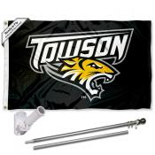 Towson Tigers Flag and Bracket Flagpole Kit