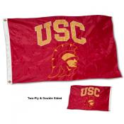 Trojan Head USC Double Sided Nylon Flag