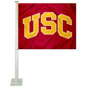 Trojans Car Flag