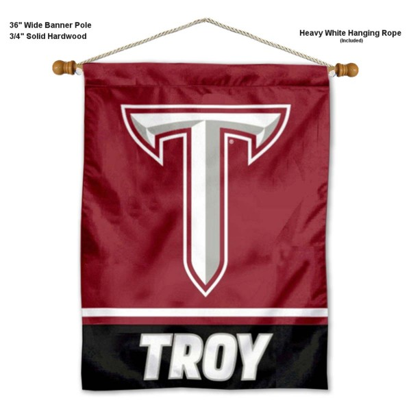 Troy Trojans Banner with Pole