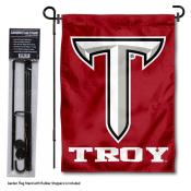 Troy Trojans Garden Flag and Holder