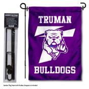 Truman Bulldogs New Logo Garden Flag and Holder