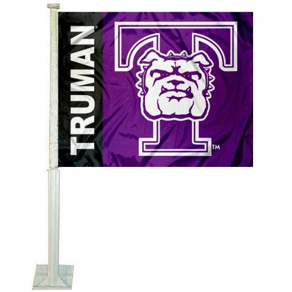 Truman State Purple Car Flag