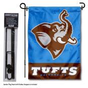 Tufts Jumbos Garden Flag and Yard Pole Holder Set