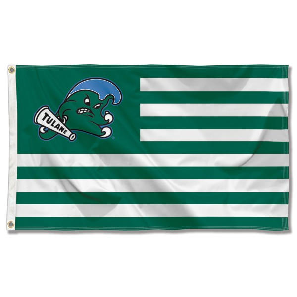 Tulane Green Wave American Nation Flag
