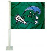 Tulane Green Wave Car Flag