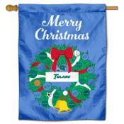 Tulane Green Wave Christmas Holiday House Flag