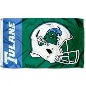 Tulane Green Wave Helmet Flag