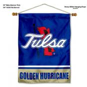 Tulsa Hurricanes Banner with Pole