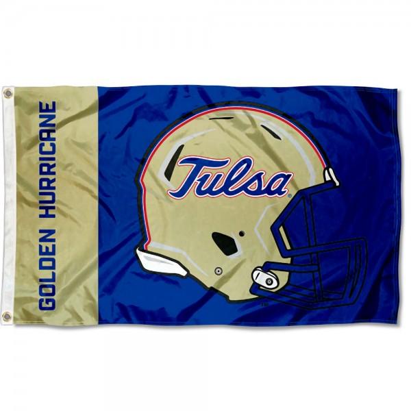 Tulsa Hurricanes Helmet Flag