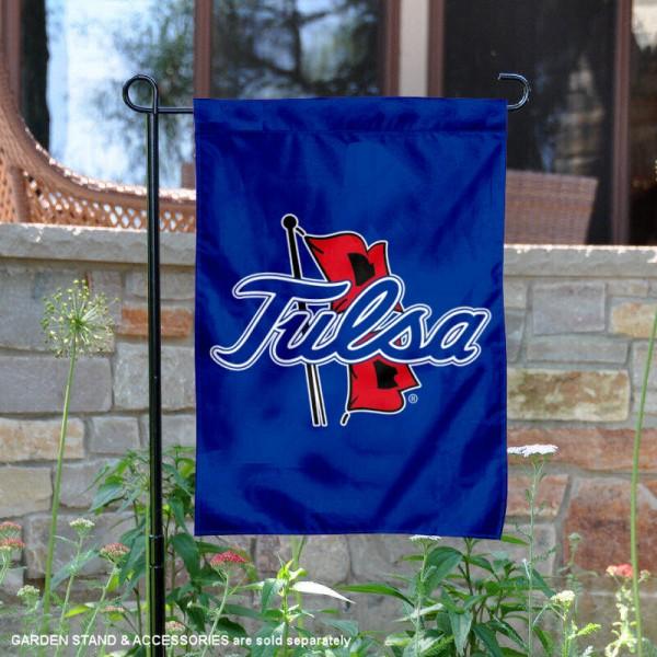 Tulsa Hurricanes Outline Logo Garden Banner