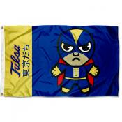 Tulsa Hurricanes Tokyodachi Cartoon Mascot Flag