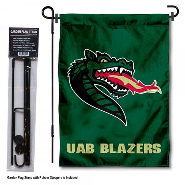 UAB Blazers Garden Flag and Holder