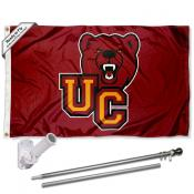 UC Bears Flag and Bracket Mount Flagpole Set