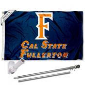 UC Fullerton Titans Flag and Bracket Flagpole Kit