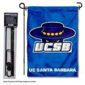 UC Santa Barbara Gauchos Garden Flag and Yard Pole Holder Set