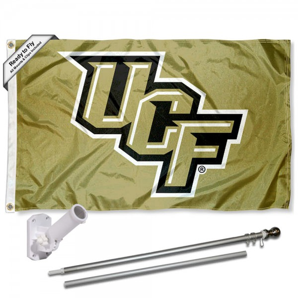 UCF Knights Flag and Bracket Flagpole Set