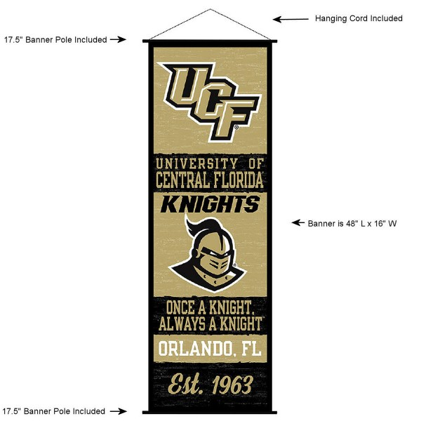 UCF Knights Wall Banner and Door Scroll