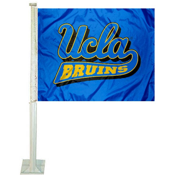 UCLA Blue Car Flag