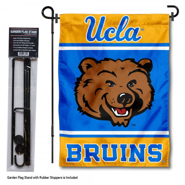 UCLA Bruins Garden Flag and Holder