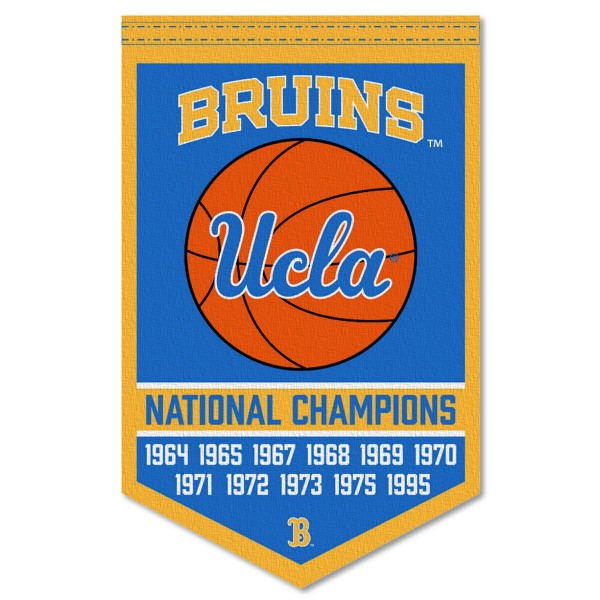 UCLA College Basketball National Champions Banner