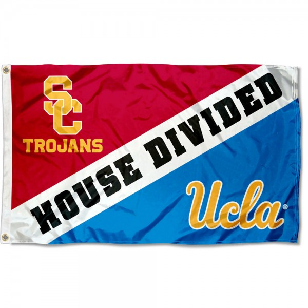 UCLA vs. USC House Divided Flag