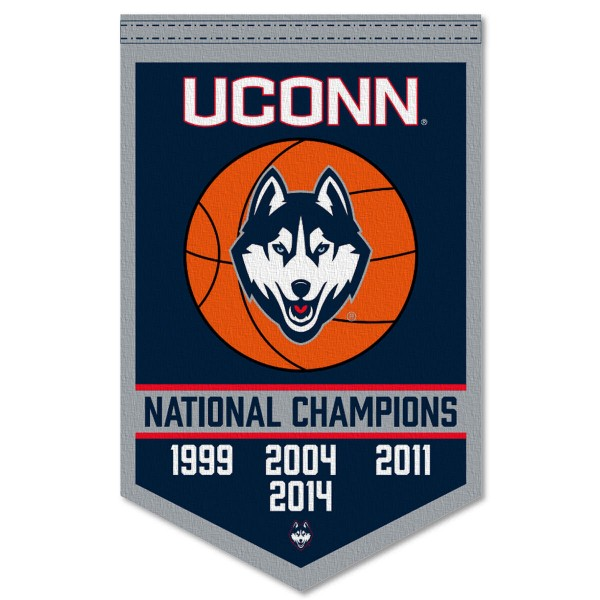 UCONN College Basketball National Champions Banner