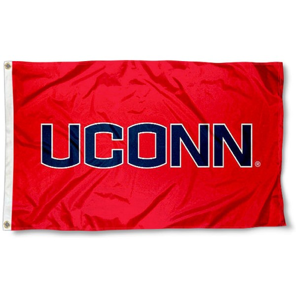 UCONN Huskies Athletic Red Flag