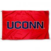 UCONN Huskies Athletic Red Flag