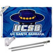 UCSB Gauchos Flag and Bracket Flagpole Kit