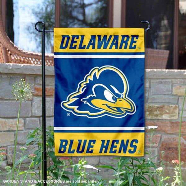 UD Blue Hens Garden Flag