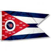 UD Flyers OH State Shaped Flag