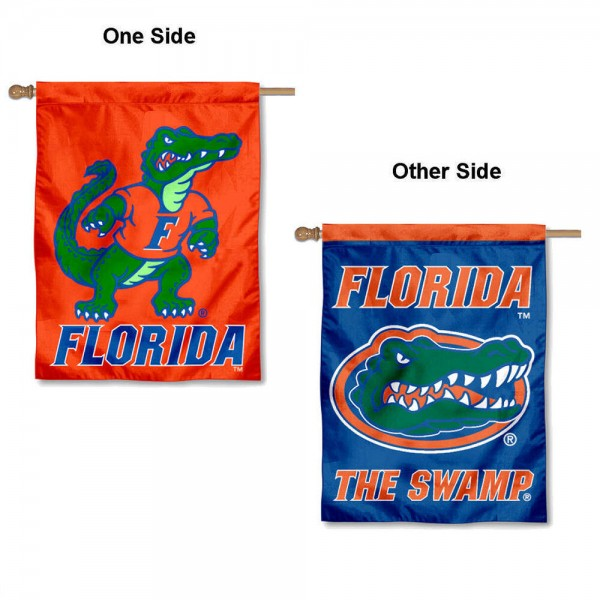 UF Gators Dual Logo House Flag