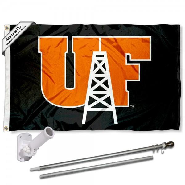 UF Oilers Flag and Bracket Mount Flagpole Set
