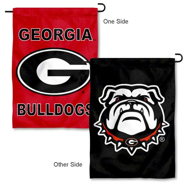 UGA Bulldogs Dual Logo Garden Flag