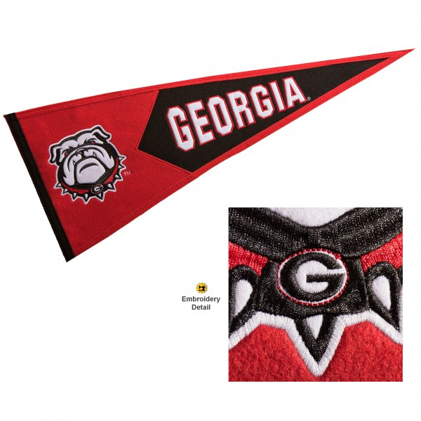 UGA Bulldogs Embroidered Wool Pennant