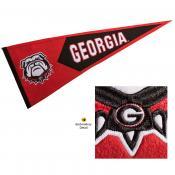UGA Bulldogs Embroidered Wool Pennant