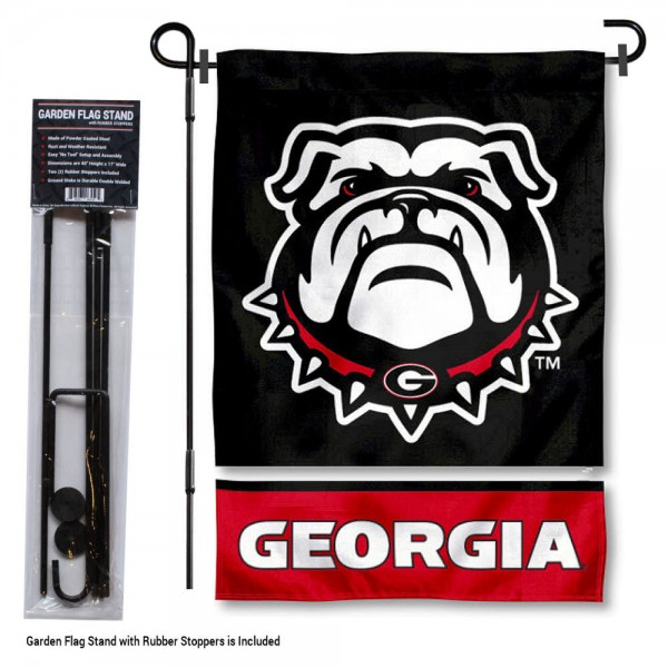 UGA Bulldogs Garden Flag and Holder