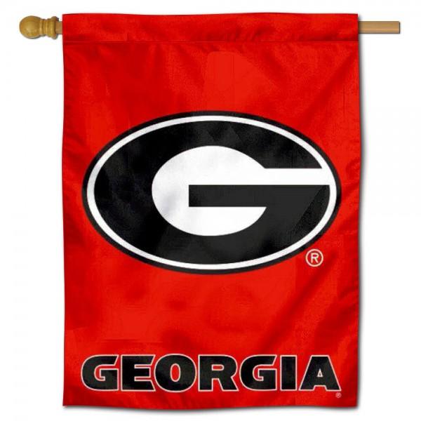 UGA Bulldogs House Flag