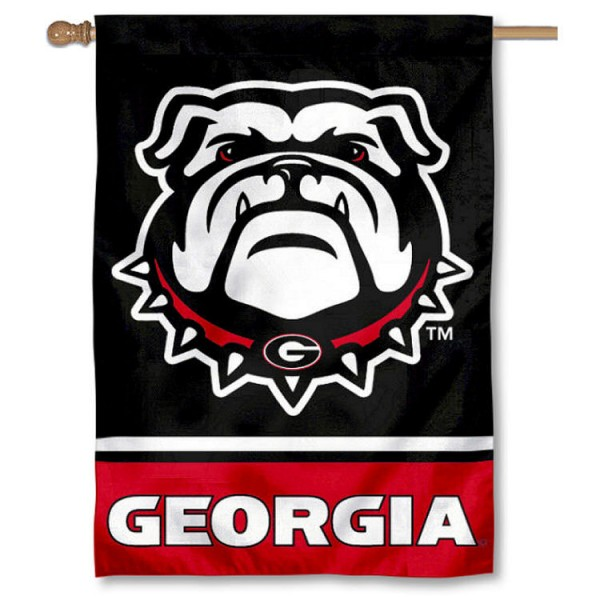 "UGA Bulldogs ""New Dog"" Double Sided House Banner Flag"
