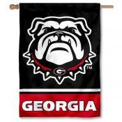"UGA Bulldogs ""New Dog"" Double Sided House Banner Flag"