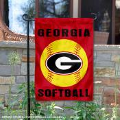 UGA Bulldogs Softball Garden Flag