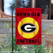 UGA Bulldogs Softball Garden Flag