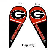 UGA Bulldogs Teardrop Flag