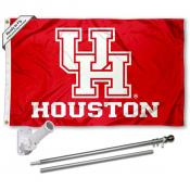 UH Cougars Flag and Bracket Flagpole Kit