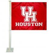 UH Cougars Logo Car Flag