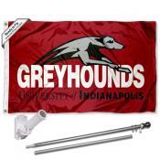 UIndy Greyhounds Flag and Bracket Mount Flagpole Set