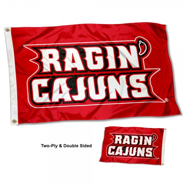 UL Lafayette Ragin Cajuns Two Sided 3x5 Foot Flag
