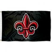 UL Lafayette Rajun Cajuns Fleur de lis Logo Flag