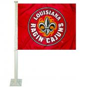 UL Lafayette Rajun Cajuns Logo Car Flag